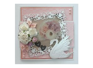 Joy!Crafts und JM Creation Troquelado y estampado en relieve plantilla: cisne