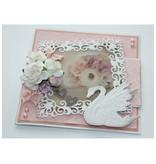 Joy!Crafts und JM Creation Troquelado y estampado en relieve plantilla: cisne