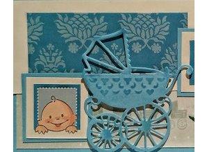 Marianne Design Stanz- und Prägeschablone: Kinderwagen