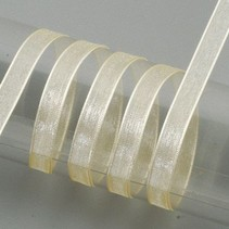 Organza bånd selvage, 6 mm, creme