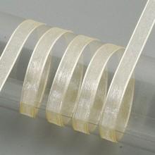 Embellishments / Verzierungen Organza nastro cimosa, 6 mm, crema