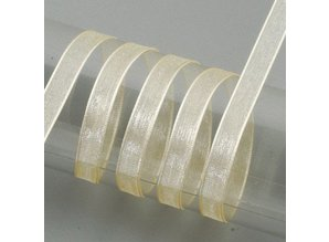 Embellishments / Verzierungen Organza cinta de orillo, 6 mm, crema