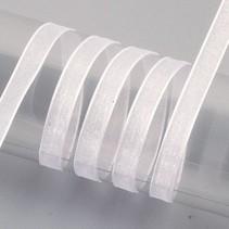 Organza bånd selvage, 6 mm, hvid