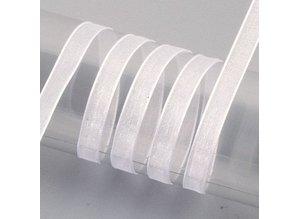 Embellishments / Verzierungen Organza orillo de la cinta, 6 mm, blanca