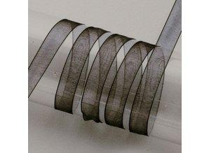 Embellishments / Verzierungen Organza ribbon selvage, 6 mm, black