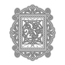 NYHED: stansning og prægning skabeloner souvenir Royal Frame & Butterfly Indsæt Set