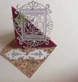 TONIC NYHED: stansning og prægning skabeloner souvenir Royal Frame & Butterfly Indsæt Set
