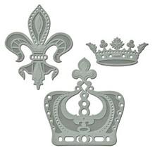 Spellbinders und Rayher Troquelado y estampado en relieve plantilla: Jewelys familiares