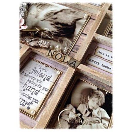 Objekten zum Dekorieren / objects for decorating NEU: MDF foto frame, 11 Fächer