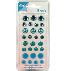 Joy!Crafts und JM Creation Brads, blue tones