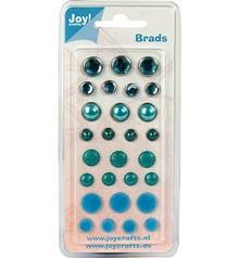 Joy!Crafts und JM Creation Brads, i toni blu