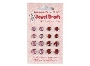Joy!Crafts und JM Creation Jewels Brads, Bordeaux / Light Pink