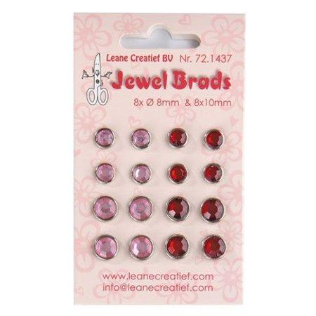 Joy!Crafts und JM Creation Jewels Brads, Bordeaux / Lyserød