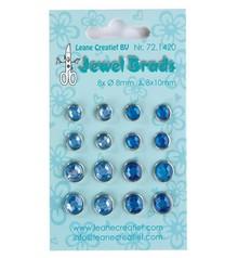 Joy!Crafts und JM Creation Jewels Brads, Dunkelblau / Hellblau