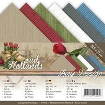 Linen cardboard 13,5x27 cm, summer colors,