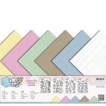 Leinen Karton 30,5 x30,5 cm, zarte Farben