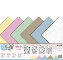 Amy Design Lino cartone 30,5 centimetri x30,5, colori delicati