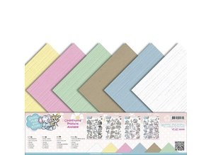 Amy Design Linen carton 30.5 cm x30,5, delicate colors