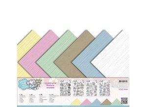 Amy Design Linen karton 30,5 cm x30,5, sarte farver