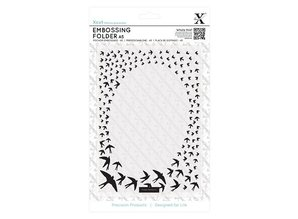 X-Cut / Docrafts A5 embossing folders with swallows frame