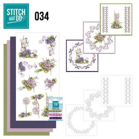 Komplett Sets / Kits Stitch og Thu 34, Field blomster