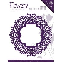 Punching and embossing template: Fleur-de-lis frame