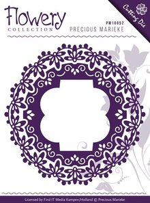 Precious Marieke Troquelado y estampado en relieve plantilla: la flor de lis del marco