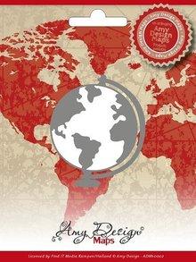 Amy Design Stanz- und Prägeschablone, Amy Design, Maps, Globus