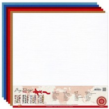 Amy Design Leinen Karton 30,5 X 30,5 cm, warme Farben