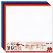 Amy Design Linen karton 30,5 x 30,5 cm, varme farver