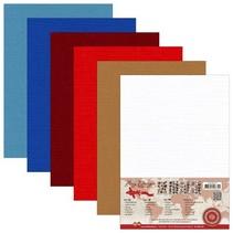 Lin karton A5, warme kleuren