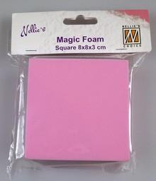 Nellie snellen Magic Foam, rektangel 8 x 8 x 3cm