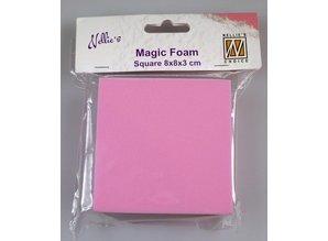Nellie snellen Magic Foam, rectangle 8 x 8 x 3cm