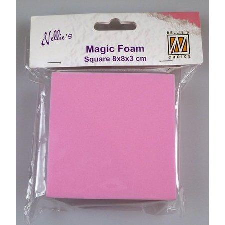 Nellie snellen Magic Foam, Rechteck 8 x 8 x 3cm