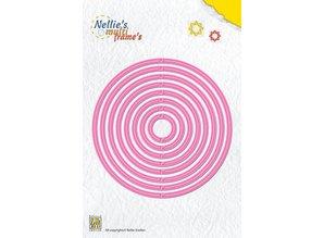 Nellie snellen Troquelado y estampado en relieve plantilla: Plantilla Multi Ronda