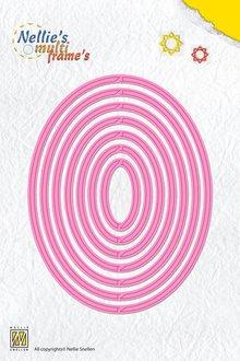 Nellie snellen Stansning og prægning skabelon: Multi Skabelon ovaler