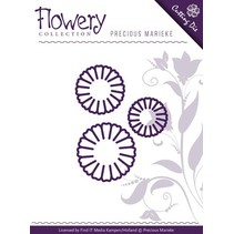 Punching and embossing template: 3 daisy flowers