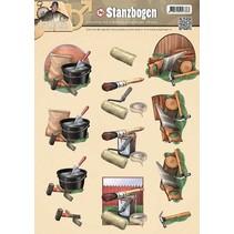 Stanzbogen, Männermotiven