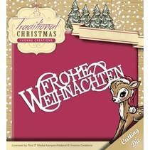 Stanz- und Prägeschablone: Frohe Weihnachten