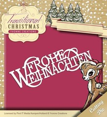 Yvonne Creations Punching and embossing template: Merry Christmas