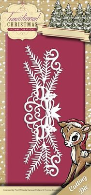 Yvonne Creations Punching and embossing template: Garland
