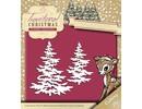 Yvonne Creations Troquelado y estampado en relieve plantilla: árboles de Navidad con nieve