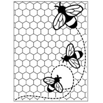 Embossing Folder: Thema Bienen