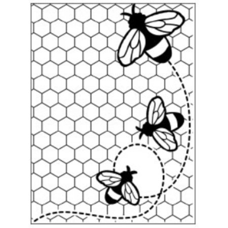 embossing Präge Folder Embossing Folder: Thema Bienen