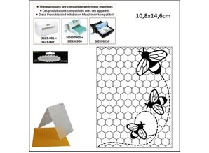 embossing Präge Folder Carpeta de grabación en relieve: Temas de abeja
