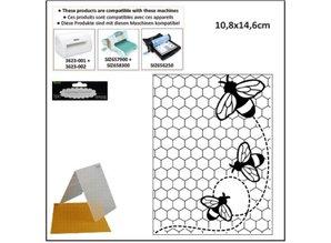 embossing Präge Folder Prægning Mappe: Temaer Bee