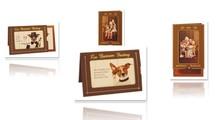 KARTEN und Zubehör / Cards 5 slide card + 5 envelopes!