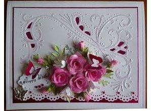 Marianne Design Rose Bud medio de color rosa