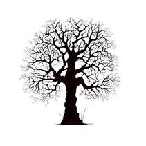 Transparent stempel: pretty træ