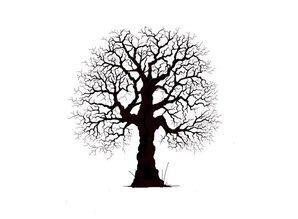 Stempel / Stamp: Transparent Transparent stempel: pretty træ